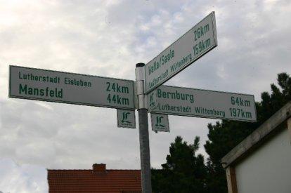 Lutherweg Wegweiser