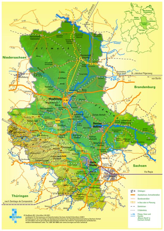 Jakobsweg Karte