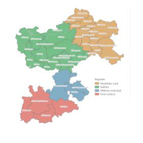 Pfarrbereiche und Gemeinden
