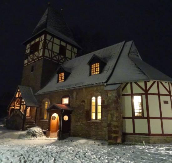 Kirche Dittichenrode Winter