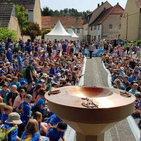 Schülerkirchentag Mansfeld 2018 Taufwasser