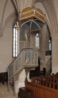 Kanzel St. Andreas Kirche Eisleben