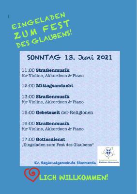 Programm Kirchenpavillon BUGA 13.Juni